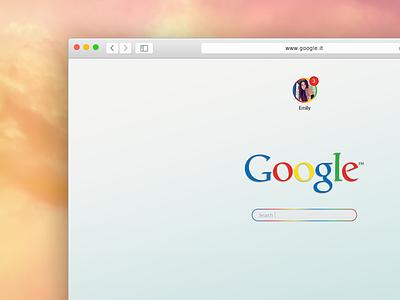 Google Concept freebiesbug freebie ui kit free psd search minimalism colors safari mac concept google