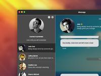 WhatsApp Desktop Concept