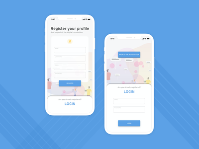 Sign Up page ux colors illustration ui design signup login revolution data datastream mobile interaction graphic dailyui 001 dailyui