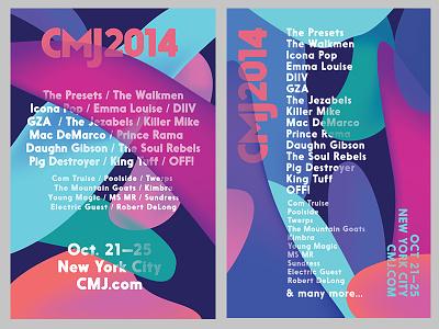 CMJ 2014 Killed Branding posters music cmj shapes floating type design branding