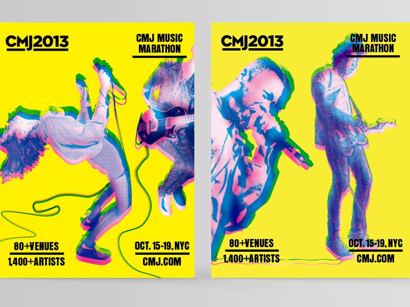 CMJ 2013 (killed direction) design type motion branding poster music cmj