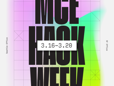 MCE hackathon Poster design texture ipad pro abstract anime poster illustration