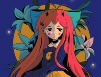 AOI design ipad pro texture abstract anime poster illustration