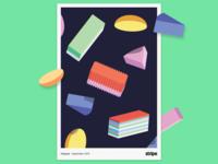 Malaysia poster ipad pro texture abstract anime poster illustration