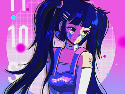 1110 layout design ipad pro texture abstract anime poster illustration