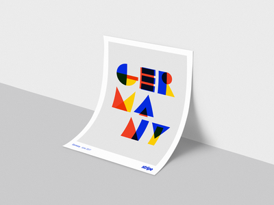 Germany launch poster stripe