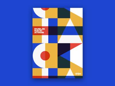Dublin Hackathon graphic design poster dublin hack hackathon stripe