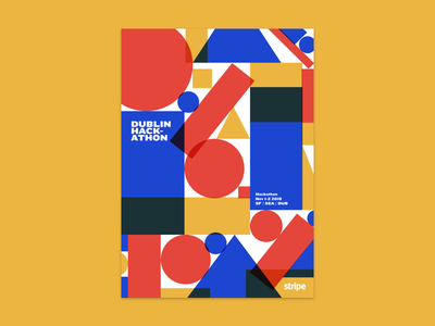 Dublin Hackathon poster design poster stripe flat abstract