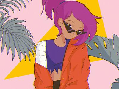 Cartoon Network international women's day ipadpro procreate illustration anime okko enid cartoon network