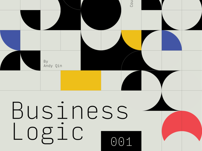 Business Logic Podcast layout design vector abstract poster illustration