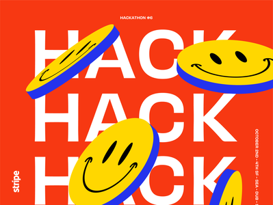HACK HACK! logo vector branding stripe anime ipad pro abstract poster illustration