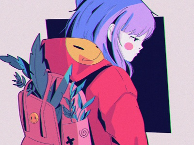 I hope design texture ipad pro abstract anime poster illustration