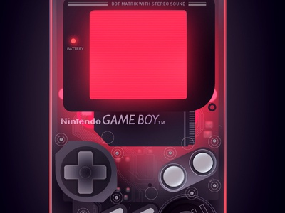 Game Boy Trystram trystram mario tetris video game old school transparent gameboy game techno retro illustration