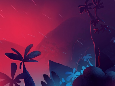 Try try jungle  trystram speed painting sketch island color adventure landscape illustration jungle