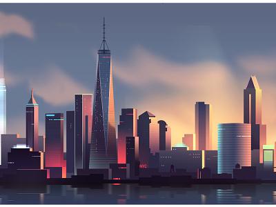 Nyc Neon  retro futur night light neon trystram us manhattan big apple niece new york