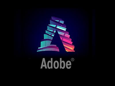 Adobe Logo remix new york nyc spruce neon building cloud acrobat art direction illustration adobe