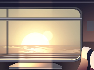 Train Window discovering nature trystram colorful panorama book adventure illustration