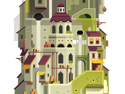 Levels_crop_02 set design background trystram exploration adventure big giant tower game color level illustration