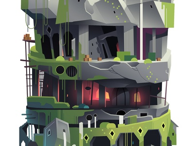 Levels_crop_03 set design background trystram exploration adventure big giant tower game color level illustration