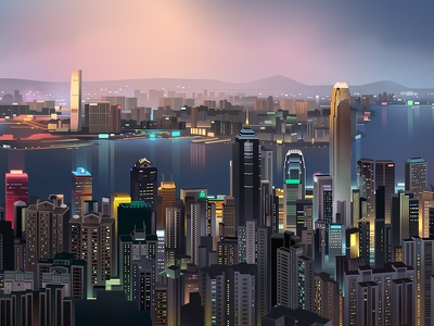 Hk Shades wallpaper game gat trystram automotive city hong kong wallpaper night light neon illustration