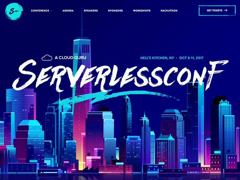 serverlessconf tokyo web future retro neon light hacker night trystram affinity process tuto vector illustration