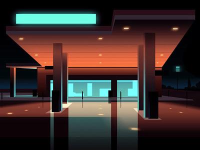 Reflexion Made 10 night city futur cyber punk retro neon 2012 reflexions vector illustration