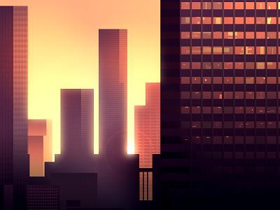 Reflexions Made 25 night city futur cyber punk retro neon 2012 reflexions vector illustration