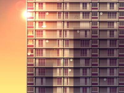 Reflexions Made 26 night city futur cyber punk retro neon 2012 reflexions vector illustration