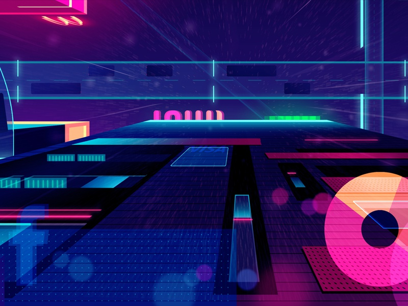 Mirage_01 explore city night game video retro futur neon illustration