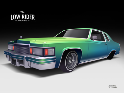 Low Rider 01 adobe illustrator vector graphicdesign design style green animation anime photoshop car illustration
