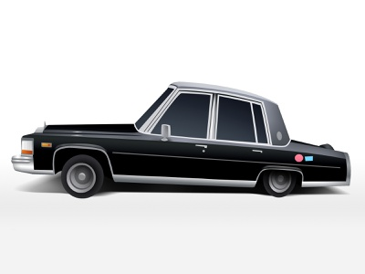 Cadillac fun 80s retro light photoshop anime black cadillac car illustration