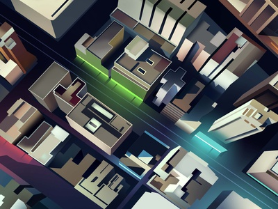 mirages n 3 002 tokyo neotokyo cyberpunk vector trystram neon city illustration