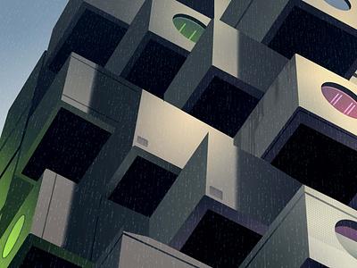 mirages n 3 004 akira neotokyo tokyo cyberpunk futur trystram neon city illustration
