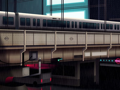 mirages n 3 006 akira cyberpunk neotokyo tokyo futur trystram neon city illustration