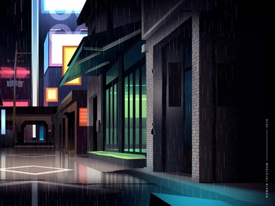 mirages n 3 010 akira neotokyo tokyo cyberpunk retro city trystram neon illustration