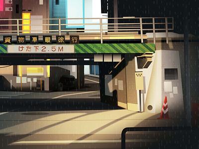 mirages n 3 012 akira tokyo neotokyo cyberpunk retro futur trystram neon city illustration