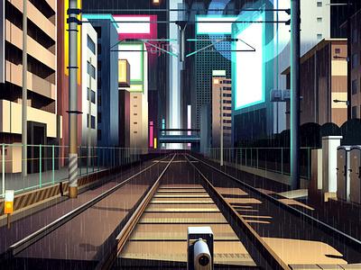 mirages n 3 015 akira neotokyo tokyo cyberpunk retro futur trystram neon light illustration