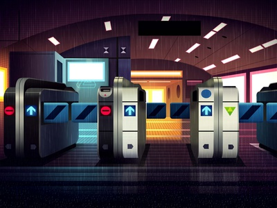 mirages n 3 017 neotokyo tokyo akira cyberpunk retro futur trystram neon light illustration