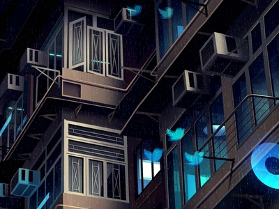 mirages n 3 023 street neotokyo tokyo cyberpunk retro futur trystram neon city illustration