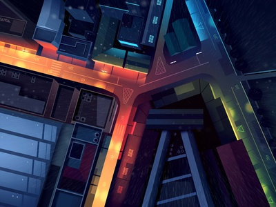 mirages n 3 028 cyberpunk birdview otomo akira tokyo travel retro trystram neon city illustration