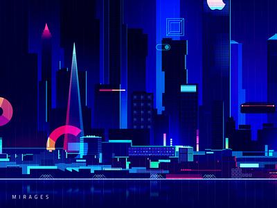 358a3665996821 5b06f6149d89c akira neotokyo cyberpunk gradient futur trystram neon city illustration