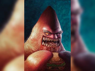 Patrick patrick spongebob design tv shows color photoshop pain tool sai illustration character