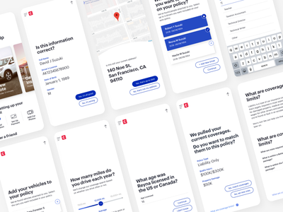 Cover App - Quote Flow chat quote insurance product design mobile application app ux ui