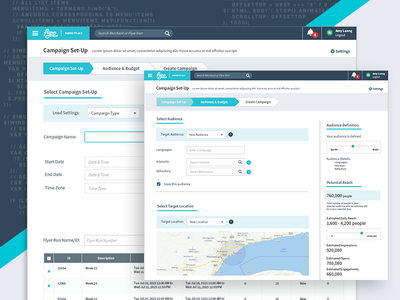 Flipp - Campaign Manager campaign dashboard interface application system layout map data web redesign ux ui