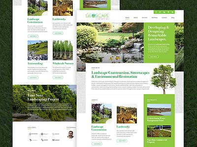 Landscape Company - Landing redesign marketing construction landscaping nature website landing
