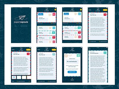 Paper Capsule - Workflows wip blue letters workflow ux ui app mobile