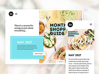 Flipp Monthly Shopping Guide shopping retail microsite flipp landing page marketing mobile website