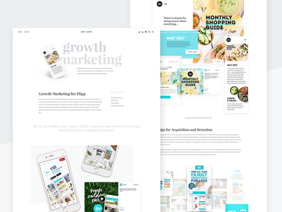 Portfolio - Growth ux ui minimal redesign personal clean flipp portfolio website