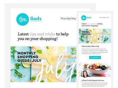 Flipp Finds Newsletter marketing email marketing flipp template newsletter news email
