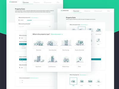 Moregidge -  Desktop Application mortgage web app website ux ui application illustration
